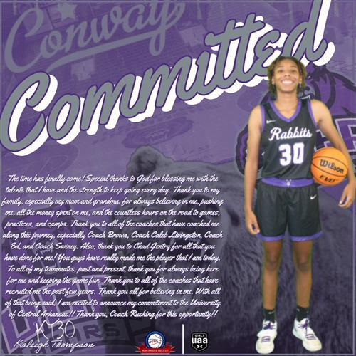 Senior Kaleigh Thompson Committed to UCA